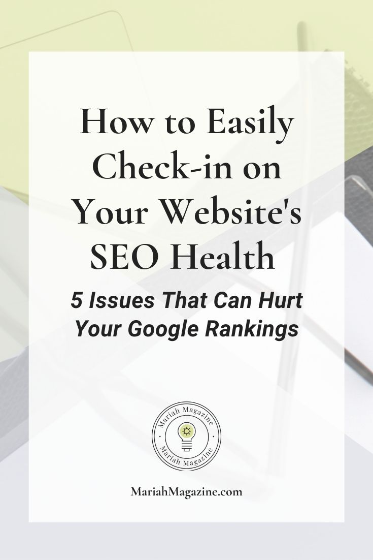 SEO Health Check-Up | 5 Issues That Are Hurting Your SEO Health